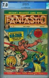 FANTASTIC #18 / X-MEN #10 1967-1st KA-ZAR GCG 7.0-UK 3725082001