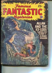 Famous Fantastic Mysteries-Pulp-12/1952-H. Rider Haggard-V. E. Thiessen
