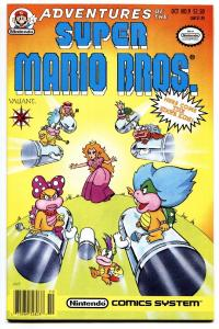 Adventures of Super Mario Bros Comic #9 1991- Valiant- Super Nintendo vf/nm