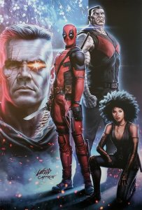 Rob Liefeld DEADPOOL 2 Poster from Fandango - NM condition. Lays flat.