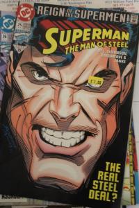 Superman the Man of Steel 25 NM