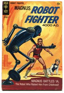 Magnus Robot Fighter #28 1969-Gold Key-Russ Manning-robot cover-origin-FN