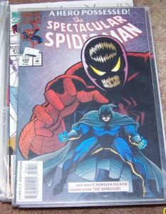 SPECTACULAR  SPIDER-MAN COMIC #  208  1994 MARVEL  THE SHROUD