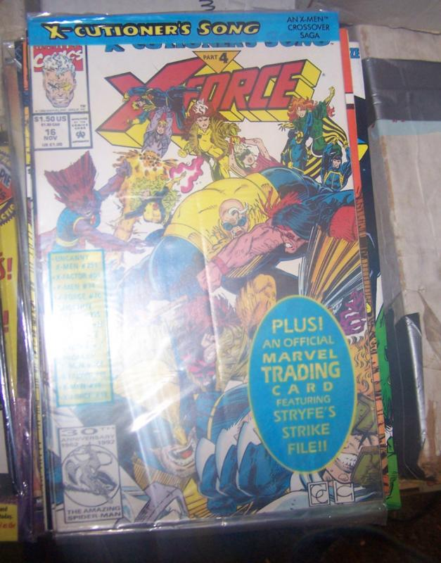 X-Force #16 (Nov 1992, Marvel) x-cutioners song pt 4 greg capullo+BAGGED W/ CARD
