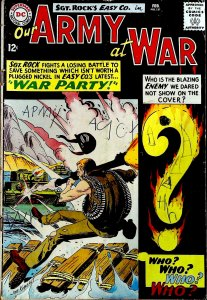 Our Army at War #151 (1965) writing on cover