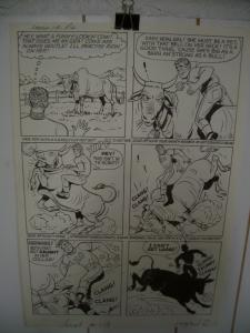 KATY KEENE ORIGINAL ART LAUGH COMICS #119 PG 12  WOGGON FN