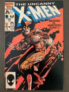 Uncanny X-Men #212 (Marvel, 1986) NM- Range Classic Cover Sabretooth