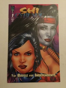 Shi/Cyblade: Battle For Independents Fine/very Fine 7.0 First Witchblade Crusade