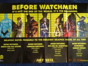 BEFORE WATCHMEN Promo Poster, 22 x 34, 2013, DC Unused more in our store 456