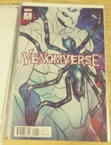 Venomverse  #2 2017 marvel elizabeth torque Variant eddie brock poison spiderman