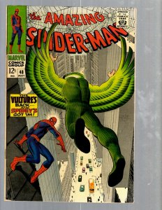 Amazing Spider-Man # 48 VF Marvel Comic Book Lizard Vulture Goblin Scorpion TJ1