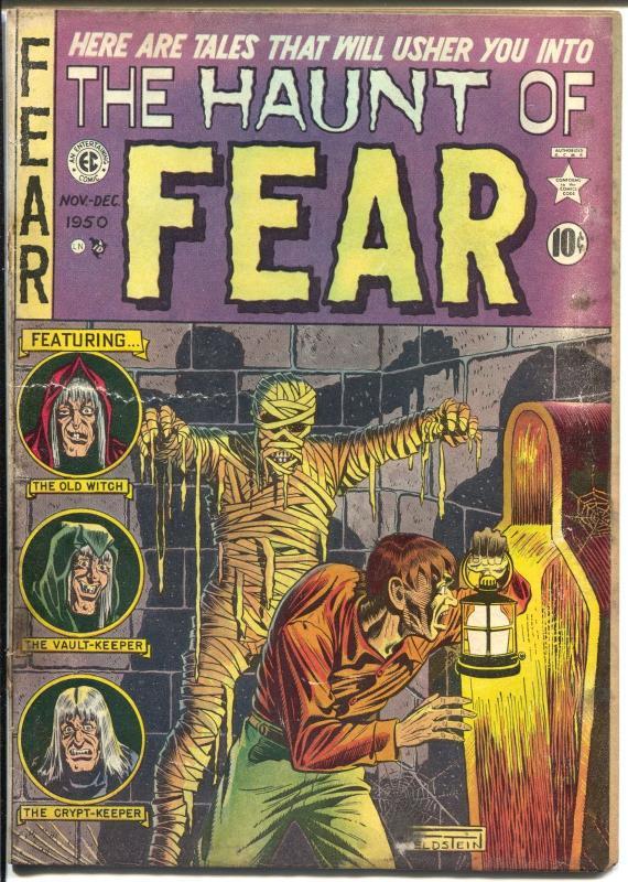 haunt of fear 4 1950 ec feldstein mummy cover pre code horror jack