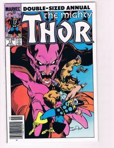 The Mighty Thor Annual # 14 VF Marvel Comic Books Avengers Hulk Loki S94