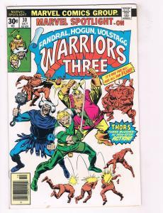 Marvel Spotlight Warriors Three #30 FN Marvel Comics Comic Book Oct DE38 AD11