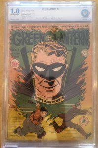 GREEN LANTERN #2 CBCS 1.0 -- O/W to WHITE PAGES! Bill FINGER / NODELL! CGC
