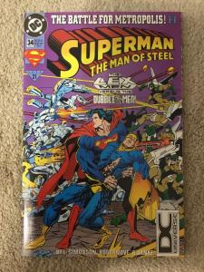 DC Superman The Man Of Steel 34 DC Universe Logo Variant * RARE *