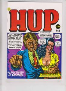 Hup #1 VF (4th) robert crumb  mr. natural - devil girl - last gasp underground