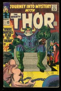 JOURNEY INTO MYSTERY #122 1965-JACK KIRBY-MIGHTY THOR VG