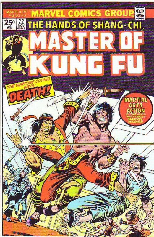 Master of Kung Fu, the Hands of Shang-Chi #22 (Nov-74) NM/NM- High-Grade Shan...