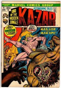 ASTONISHING TALES 11 VG-F April 1972  Kazar, Zabu  orig