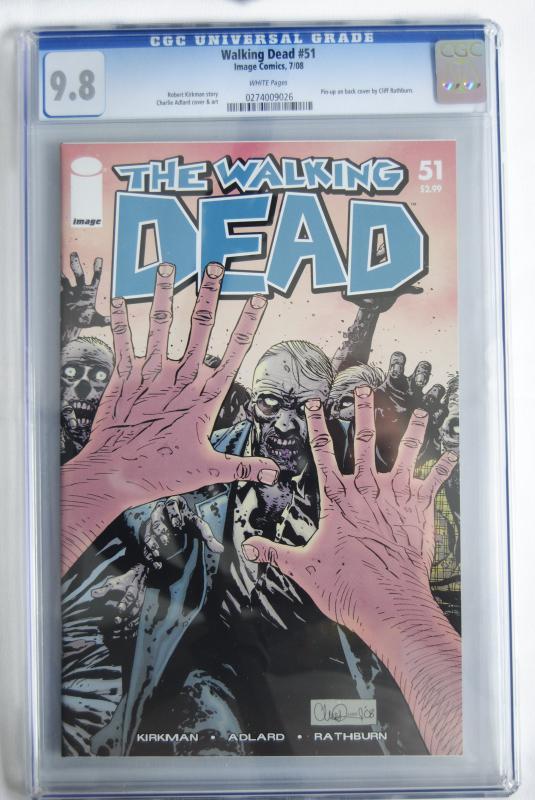 Walking Dead 51, 9.8 Rare!