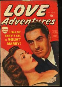 LOVE ADVENTURES #2-1950-TYRONE POWER/GENE TIERNEY PHOTO VG