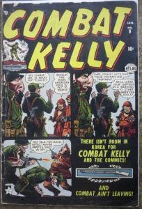 COMBAT KELLY #9 (ATLAS, 1/1953) GOOD; DANGLING STAPLE