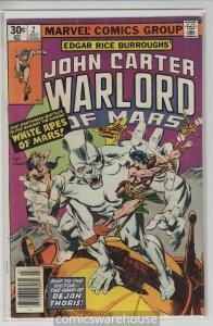 JOHN CARTER: WARLORD OF MARS (1977 MARVEL) #2 VG/FN A09547