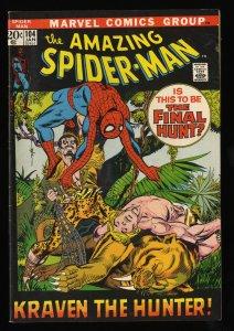 Amazing Spider-Man #104 FN 6.0 Kraven!