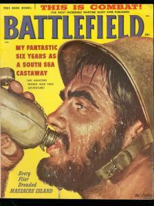 BATTLEFIELD AUG 1958-MASSACRE ISLAND-WARTIME DIARY WW 2 FN