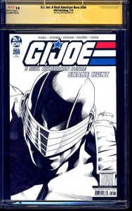 G.I. Joe #266 BLANK CGC SS 9.8 signed ORIGINAL SNAKE EYES SKETCH Brian Adkins