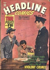 HEADLINE COMICS #40-PHOTO CRIME COVER VG