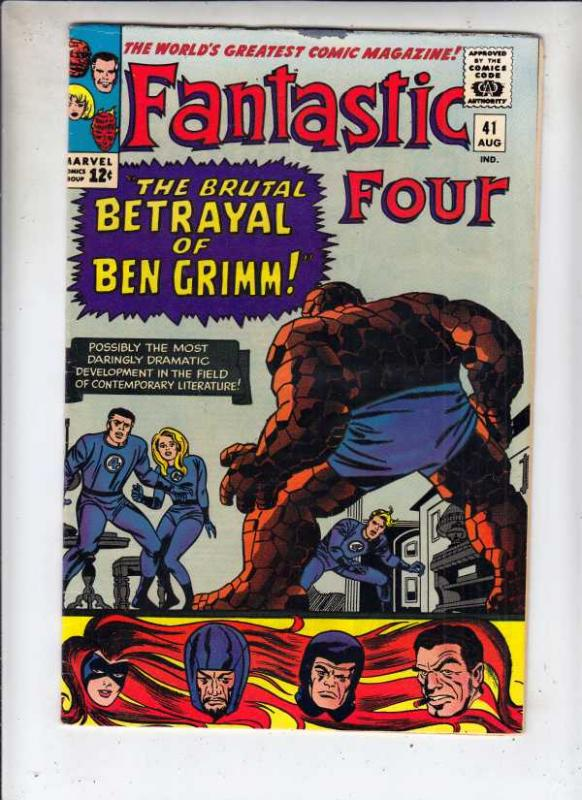 Fantastic Four #41 (Aug-65) VF+ High-Grade Fantastic Four, Mr. Fantastic (Ree...