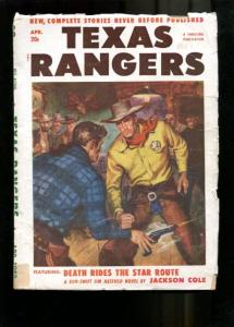 TEXAS RANGERS-1952-APR-LOUIS L'AMOUR-JIM HATFIELD STORY G/VG