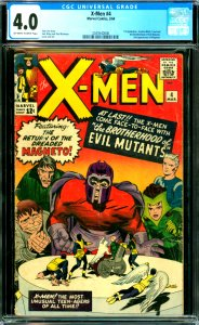 X-Men #4 CGC Graded 4.4 1st Quicksilver, Scarlet Witch, Toad and The Brotherh...