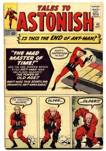 TALES TO ASTONISH #43 comic book ANT-MAN-JACK KIRBY & DITKO ART