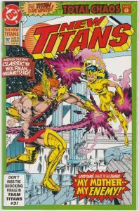 5 The New Titans DC Comic Books # 92 93 94 95 96 Nightwing Cyborg Starfire TW45