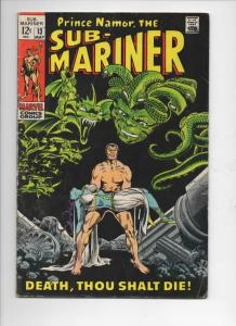 SUB-MARINER #13, VG+, Marie Severin, 1968 1969, Death, Dorma, more in store