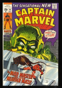 Captain Marvel #19 NM- 9.2 White Pages