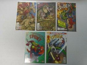 Spidey Comic Lot 9 Different Books 8.0 VF (2015)