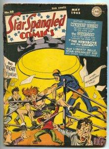 Star Spangled Comics #20 1943- 1st Liberty Belle restored G/VG