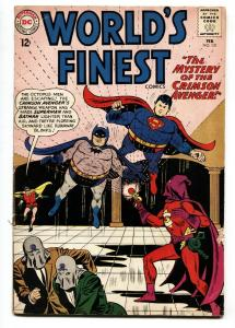 WORLDS FINEST #131 COMIC BOOK 1963-CRIMSON AVENGER-BATMAN-SUPERMAN