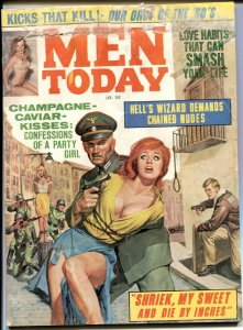 Men Today January 1967- hanging cover- Hell's Wizard