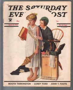 Saturday Evening Post 4/21/1931-Norman Rockwell-pulp fiction-art-VG