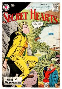 Secret Hearts #60 comic book 1960 spicy art DC Romance