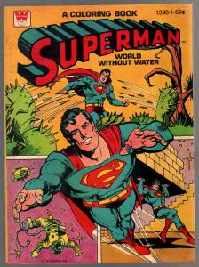 Superman Coloring Book #1398-1 1980-complete comic book story-VF