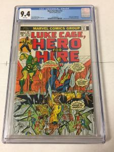Hero For Hire 12 Cgc 9.4 White Pages 1st Chemistro