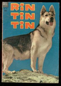 RIN TIN TIN, FOUR COLOR #473 1953-DELL-GERMAN SHEPERD- VG