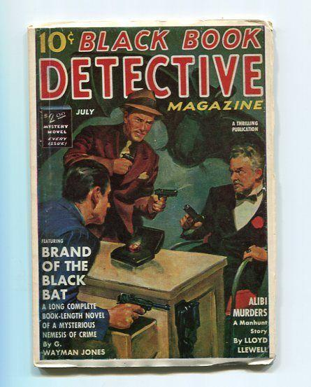 BLACK BOOK DETECTIVE-REPRODUCTION-LIMITED EDITION-BRAND OF THE BLACK BAT