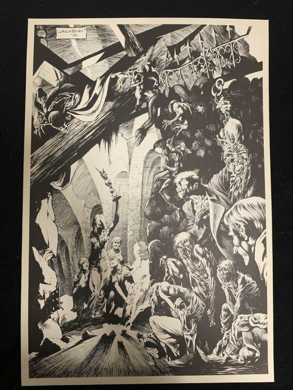 Bernie Wrightson Original Horror Print 14x21 --1970